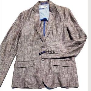 Gaudi Brownish Linen Slim Fit Sport Coat Sz 42